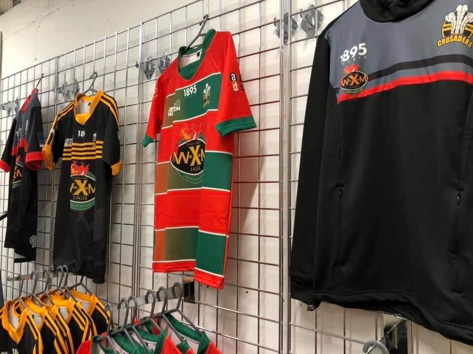 Opening times of Crusaders shop at Ty Pawb