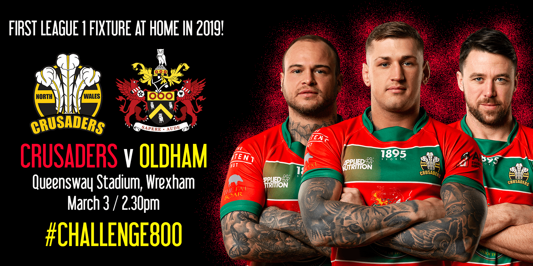 Get involved with #CHALLENGE800 ahead of first home match against Oldham